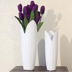 混批 简约时尚家居饰品陶瓷摆件 白色陶瓷花瓶花器 义乌货源批发