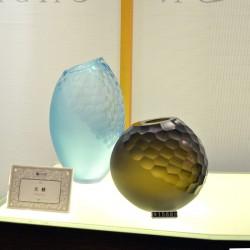 厂家直销 纯手工斜切口刻磨玻璃摆件家居彩色玻璃饰品 1115300001
