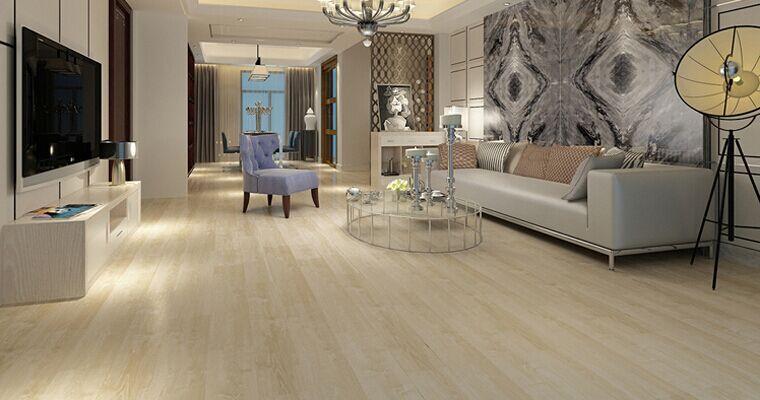 木地板规格和拼法的改变可以创造出类似石材的拼接