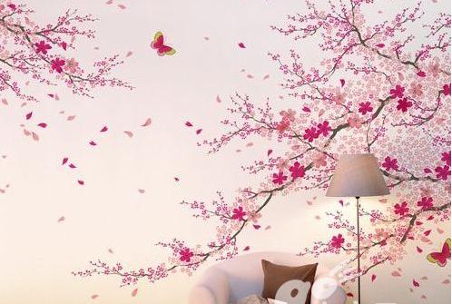 童年复古椰树花纹窗帘