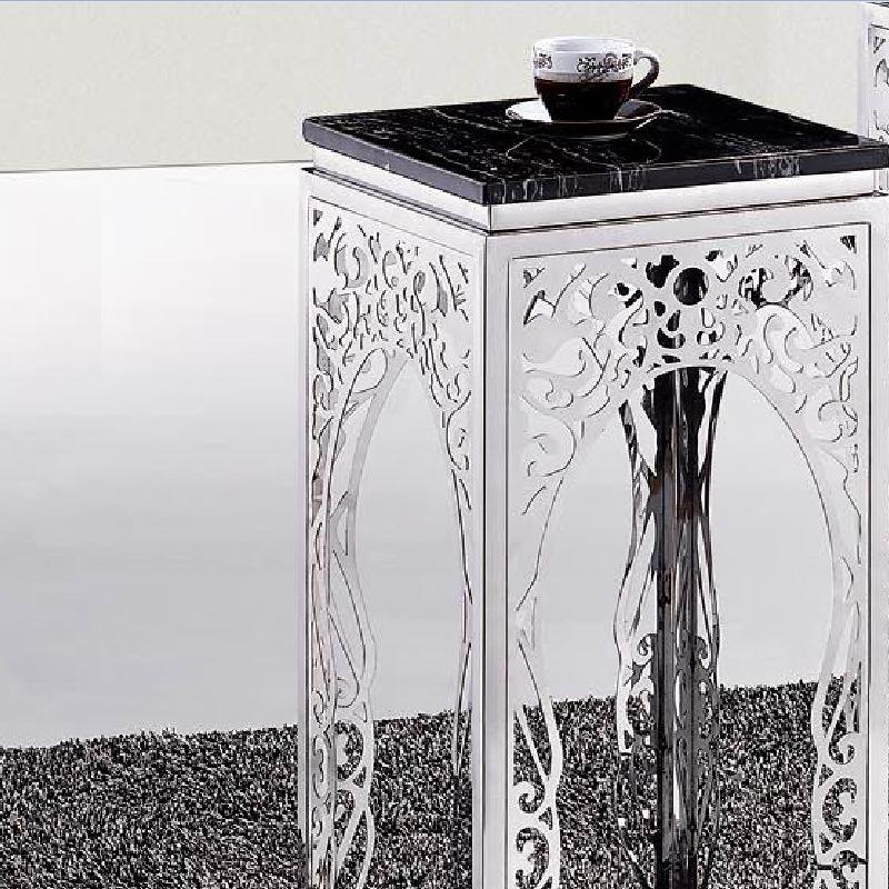 赞创家具 欧式室内不锈钢花架 个性花纹花架 量大从优